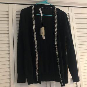 NEW Trina Turk chain link button down sweater